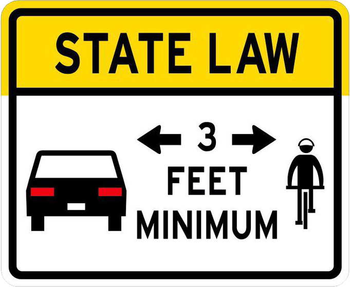 Provide at least 3 feet safety distance for bikes